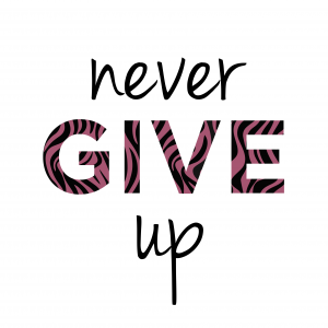 Never give up – SVG