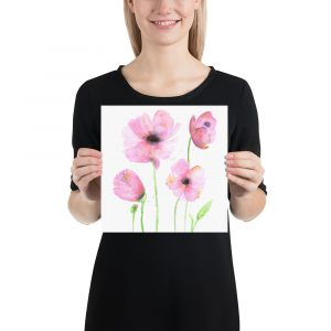 Poster Watercolor Poppies